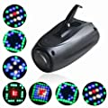 U`King Small Airship 64LEDs RGBW Voice Control Moonflower Stage Effect Light for DJ Party Wedding Events Club Disco (18W)