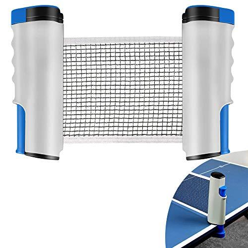 YUANXIASM Red de Ping Pong Ajustable,Red de Tenis de Mesa Retráctil, Soporte...
