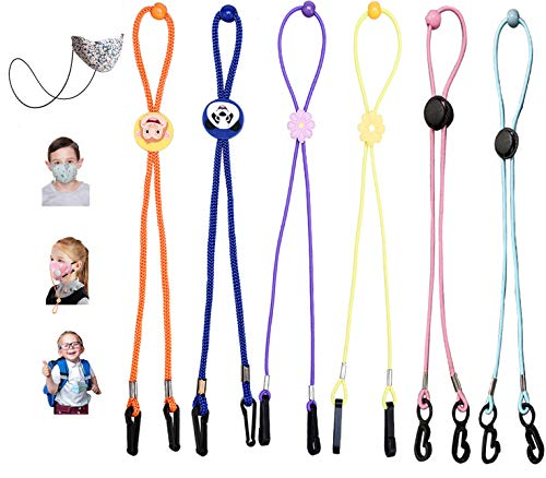 Frodete 7 Pieces Face Mask Lanyard for Women Men Mask Lanyard with Clips Mask Holder Adjustable Length Glasses Chain Hanger Cords String Necklace Comfortable Around Necklace