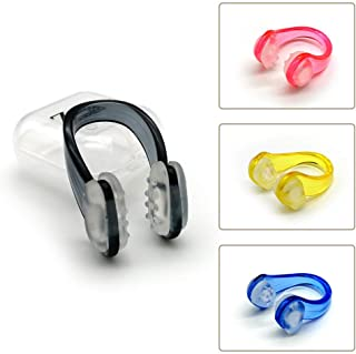 Zooshine Set of 4 Waterproof Anti-Slip Swimming Nose Clips Nose Plugs for Swimming Swimming Nose Clips for Adults Kids