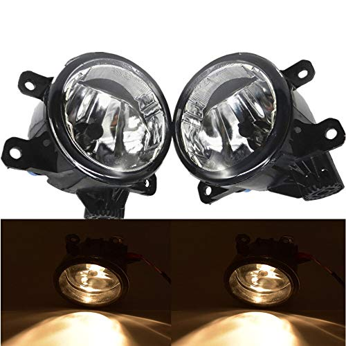 Luces antiniebla 2pc LED Front FOU Fog Lights Compatible con Opel Astra H GTC Hatchback 2005-2009 2010 Coche Styling Redondo DRL DRL DIRA Diversion El plastico (Color : D0064)