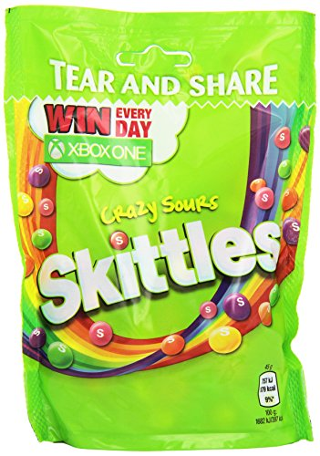Skittles Crazy Sours Großpackung, 14 x 160g Packung, saure Frucht-Kaubonbons