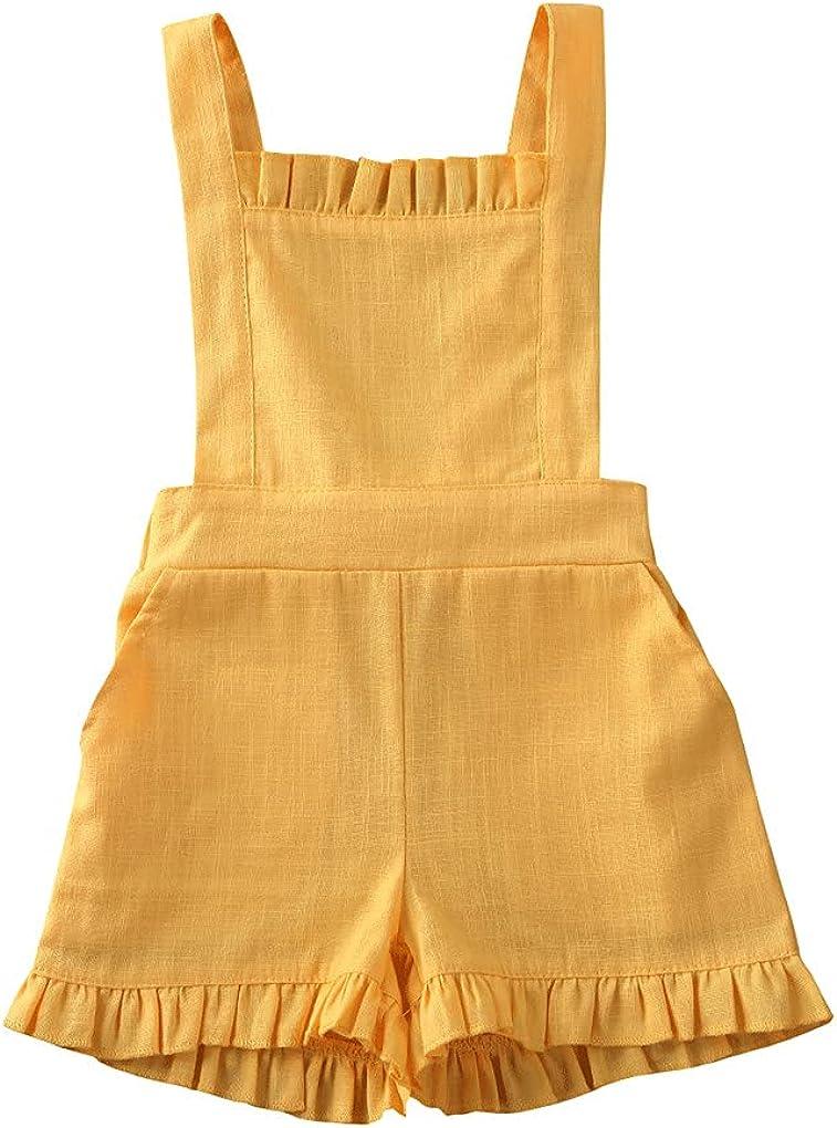 Toddler famous Baby Girl Summer Overalls 5 ☆ popular Rompers Sunflower Print Shorts