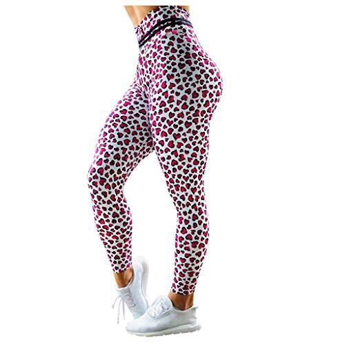 Eaylis Leggings, Damen Frauen, Rosa,Yoga Running Pilates Tights Elastische Blickdicht, Kompressions Stretch, Trainingsanzüge Sporthose
