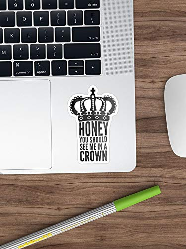 In A Crown Sticker Vinyl Decal For Cars, Trucks, Water Bottle, Guitar,Fridge, Laptops Stickers- 8 Inches