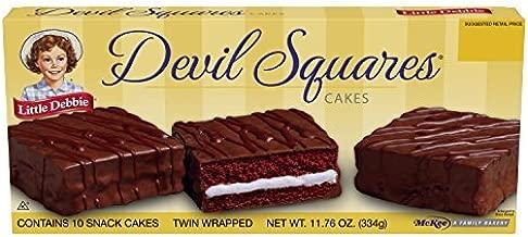 Little Debbie Devil Squares Cakes 11 Oz (8 Boxes) by Little Debbie