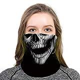 D&XQX Modelo del cráneo Mueca 3D Máscara Pañuelos Calentador del Cuello de la Cara multifunción a Prueba de Viento Anti-UV sin Fisuras de la Motocicleta Pañuelos,1