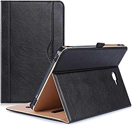 "ProCase Galaxy Tab A 10.1 Case 2016 - Stand Folio Case Cover for Galaxy Tab A 10.1"" Tablet SM-T580 T585 T587 (NO S Pen Version), with Multiple Viewing Angles, Document Card Pocket -Black"