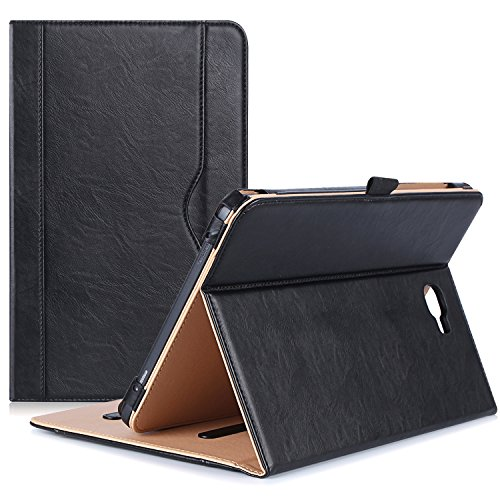 ProCase Galaxy Tab A 10.1 Case 2016 Old Model, Stand Folio Case Cover for Galaxy Tab A 10.1' Tablet SM-T580 T585 T587 (NO S Pen Version) with Multiple Viewing Angles, Card Pocket -Black