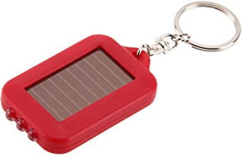 Led-zaklamp op zonne-energie, sleutelclip, multifunctionele solarenergie, 3 lampen, elektrische zaklamp, sleutelketting, a...