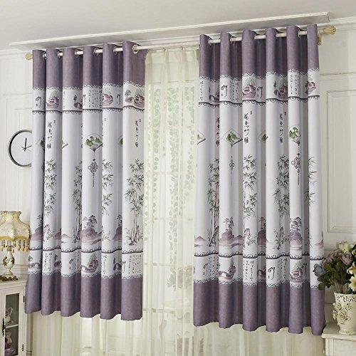 Gowind6 Bamboe afdrukken schaduw gordijn jaloezieën Drapes Purdah woonkamer huisdecoratie