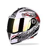 Goolife Moto Crash Modular Helmet High Safety- JIEKAI Full Face Racing Casco De Moto con Visera para Hombres Adultos Mujeres,M