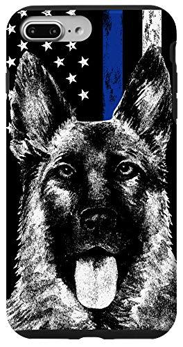 iPhone 7 Plus/8 Plus Thin Blue Line US Flag K-9 German Shepherd Police Dog Phone Case