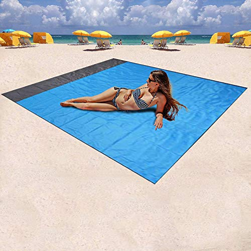 Mumu Sugar Sand Free Beach Blanket, Large Oversized Waterproof Quick Drying Ripstop Nylon Compact...