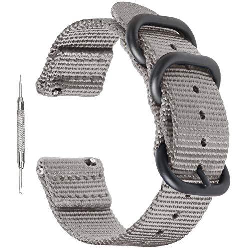 Zeit Diktator watch band Bracelet de montre Nato en nylon à libération rapide - 18 mm, 20 mm, 22 mm, 24 mm, 26 mm - Pour homme et femme - Couleur au choix