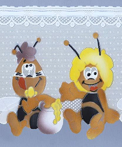 heimtexland ® KINDERGARDINE Scheibengardine Biene Maja HxB 105x160 cm Mehrfarbig Gardine Ökotex Kurzgardine bunt Store Kinderzimmer Typ321