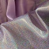 JUIC 150 cm * 50/100 cm Glitter Laser Polyester Stoff