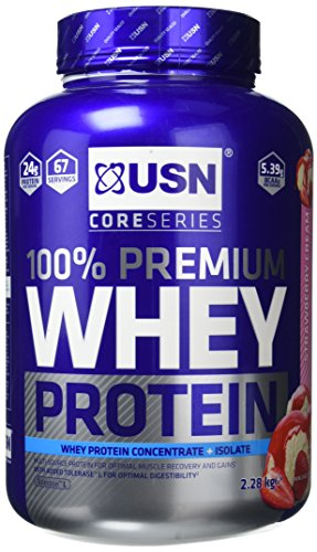 USN 100 Percent Whey Protein Strawberry Cream...