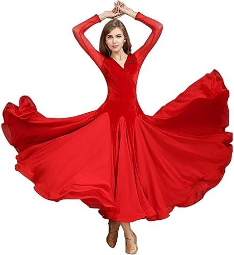 YTS Jupe de Danse Moderne, Robe Rouge Quatre Saisons