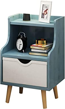 GDLMA Wooden Night Stand,Mini End Table with Fabric Drawer for Bedrooms,Kids-Room,Kitchen,Hallway