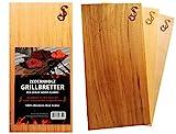 """Set di 3 taglieri in puro legno di cedro di """"SJ"""" – Tagliere per grigliare in Red Cedar – 100% legno aromatico naturale, piani di affumicatura / piani per grigliare"""
