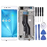 Liaoxig ASUS Spare LCD Screen and Digitizer Full Assembly with Frame for Asus Zenfone 3 Zoom ZE553KL ASUS Spare (Color : White)