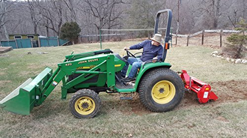 Farmer Helper 48' Tiller Cat.I 3pt 20+hp (FH-TL125)~Adjustable SideShift & SlipClutchDriveline Requires a Tractor. Not a standalone Unit.