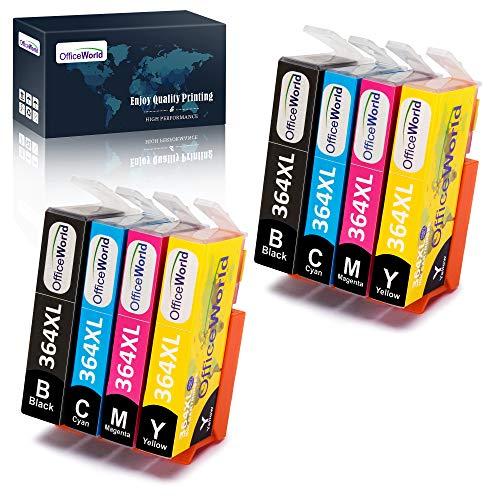 OfficeWorld Ersatz für HP 364 364XL Druckerpatronen Hohe Kapazität Kompatibel mit HP OfficeJet 4620 4622, HP Photosmart 6520 5510 7510 5524 6510 5515 5520 C5380, HP Deskjet 3070A 3520 3524 3522