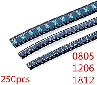 Resettable Fuses Kit 25valuesX10pcs=250pcs 1812 1206 0805 SMD Self-Recovery Fuse Assorted Packs 0.1A-3.5A