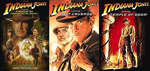 Adventure Jones 3 pack Temple of Doom / Indiana Jones Last Crusade & Kingdom of the Crystal Skull Triple Feature Bundle 3 Movies