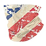 Opiadco Bandana Face Cover American Flag on Boards Magic Headdres - Multifunctional Balaclavas