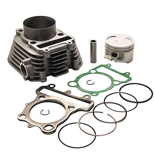 Cylinder Piston Gasket Top End Kit for Yamaha Timberwolf 250 1992-2000,for Yamaha Bear Tracker 250 1999-2004,for Yamaha Moto-4 250 1989-1991 4BD-11310-01-00