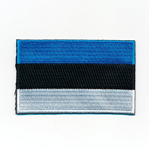 60 x 35 mm Estland Flagge Europa Tallinn Tartu Flag Patch Aufnäher Aufbügler 1057 B
