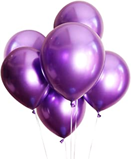 Aimto Purple Metallic Balloons Chrome Party Balloons,12 Inch–Pack of 25