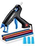 TOPELEK Hot Glue Gun, 60W Full Size Glue Gun Kit with 12pcs Glue Sticks, 3 Finger Protectors, Power Switch for DIY&Crafts, Home Quick Repairs