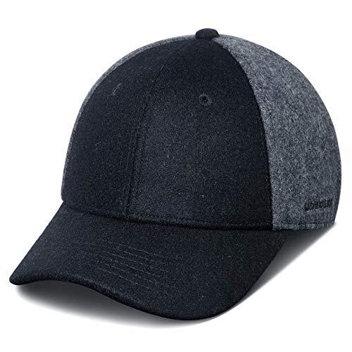 GADIEMKENSD Winter Baseball Caps Wool Dad Hat Warm Trucker Hats Work Cap Workout Thick for Mens Womens Black Grey