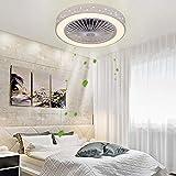 LANMOU Fan Deckenventilator mit LED Beleuchtung und Fernbedienung, Leise Ventilator Deckenlampe Dimmbar Unsichtbare Deckenventilatoren Beleuchtung für Kinderzimmer Wohnzimmer Schlafzimmer, 36W, Ø59cm