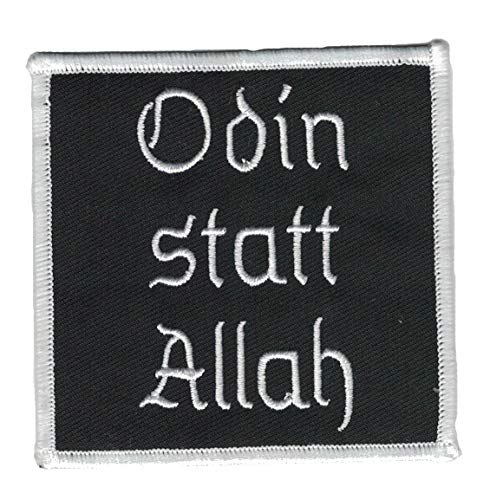 Odin statt Allah Aufnäher/Patch | Rocker, Biker, Kutte, Weste, Heavy Metal, Thors Hammer