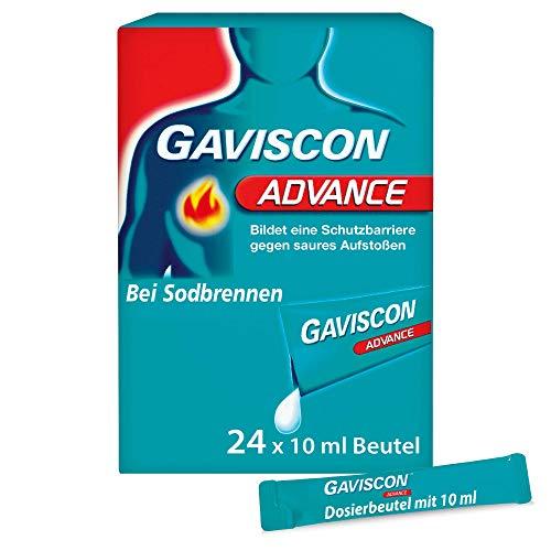 GAVISCON Advance 1000 mg / 200 mg Suspension – Extra starke Schutzbarriere gegen Reflux – 24 x 10 ml Dosierbeutel