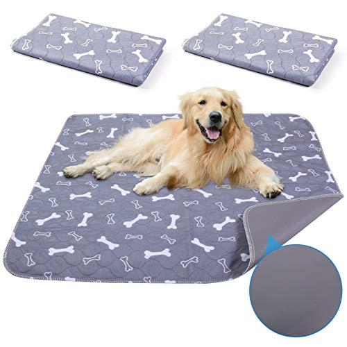 Jiayou, 2 tappetini impermeabili per cani da addestramento per animali domestici, super assorbenti, lavabili e riutilizzabili, per casa, auto, viaggi (40 x 60 cm), colore: grigio