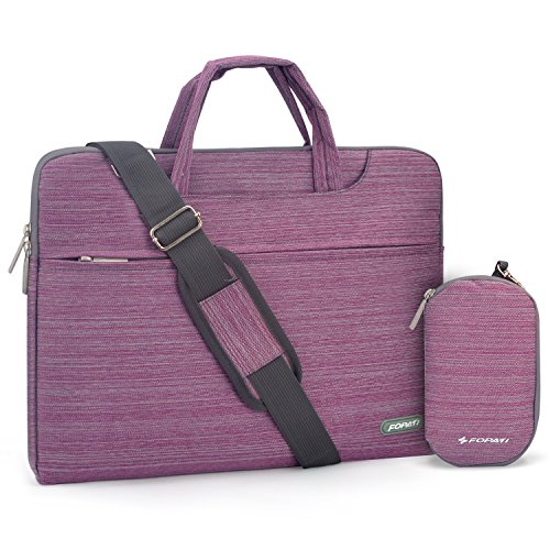 Laptop Shoulder Bag, 15 -15.6 inch Laptop Case, Slim Briefcase Computer Bag Business Carrying Bag Waterproof Notebook Messenger Bag Sleeve for Lenovo ASUS Dell Acer Samsung Chromebook 15 - Violet
