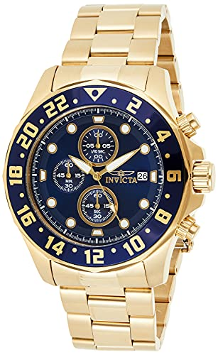Invicta Men's Specialty 48mm Gold Tone Stainless Steel Chronograph Quartz Watch, Gold (Model: 15942)