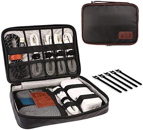 HOLIMET Electronics Organizer Bag Travel Cable Accessories Cord Storage Bag Case Box to House product image
