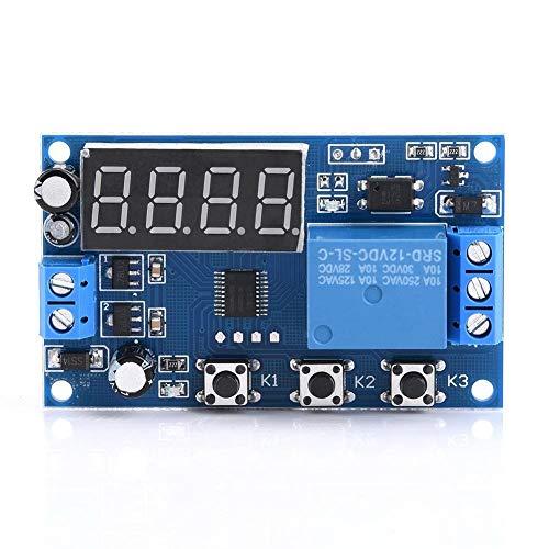 Suministros de ciencia Módulo de relevo Pantalla LED ajustable Módulo interruptor de tiempo del relé de control de automatización