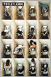 Close Up Toilet.Cam Poster (93x62 cm) gerahmt in: Rahmen
