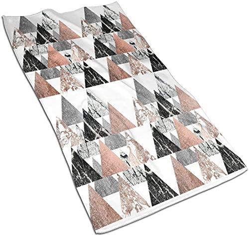 Toallas de Mano, patrón de mármol líquido Abstracto Azul veteado, Estampado de patrón Toalla de baño Suave Altamente Absorbente para baño, Hotel, Gimnasio y SPA-Color 10-27.5 * 15.7 '