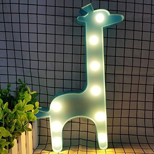 XHSHLID nachtlampje voor kinderen giraffe nachtlampje 3 W AA nachtlampje met batterij nachtlampje voor kinderen