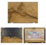 decalrus - Protective Decal Wood Burl Skin Sticker for Lenovo ThinkPad Yoga L380 (13.3' Screen) case Cover wrap LEthnkpadYoga_L380-172