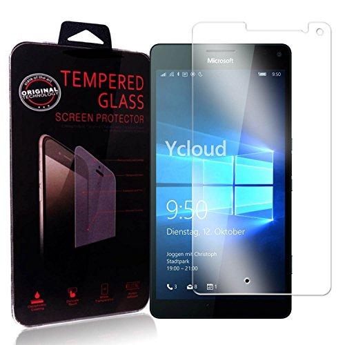 Ycloud Panzerglas Folie Schutzfolie Bildschirmschutzfolie für Microsoft Lumia 950 XL Screen Protector mit Festigkeitgrad 9H, 0,26mm Ultra-Dünn, Abger&ete Kanten