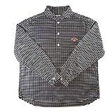 DANTON (ダントン) 丸襟ストライプ/ギンガムチェック プルオーバーシャツ Men's 【JD-3568 TRD】[正規取扱] (40, BLACK GINGHAM)